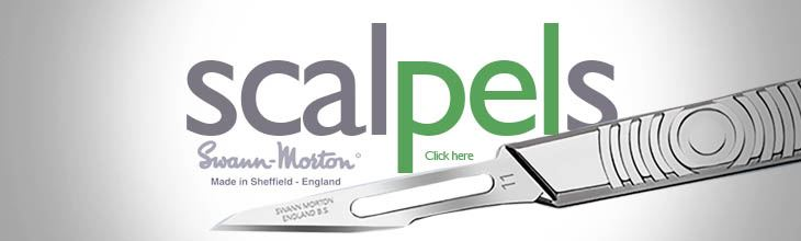 Scalpel blades and handles from Swann Morton