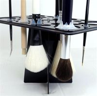 Silicone brush holders easily hold various brushes
