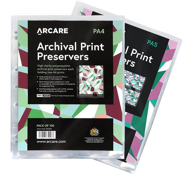 A5 and A4 archival binder pages