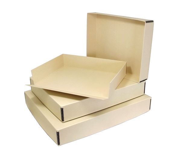 Drop front archival print storage boxes