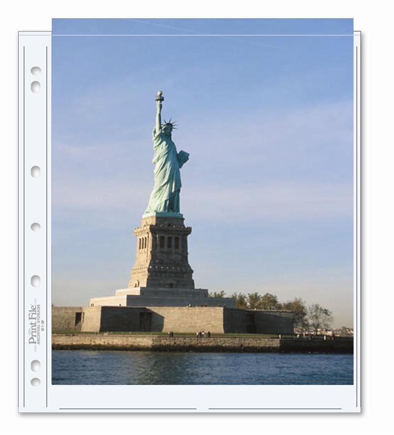 Photo Album Refill Page Holds 2 No 85 X 11 Photos Prints
