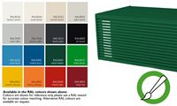 Choose a RAL colour - Enter selection on basket page