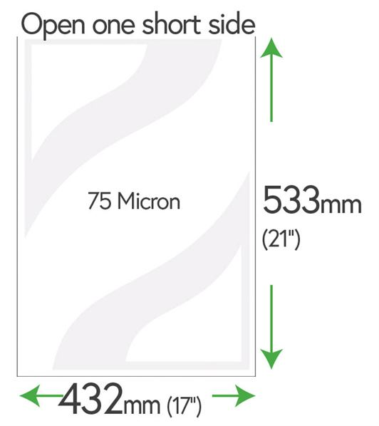 533mm x 432mm Clear Pockets 75 Micron