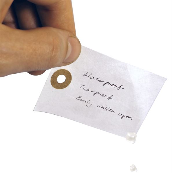 Waterproof tyvek tags
