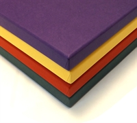 Coloured print boxes corners