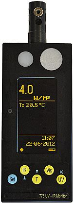 Light Meter with thermal radiation sensor