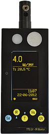 Light Meter with Thermal Radiation Sensor Lux/UV/Temp/Infrared
