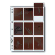 Holds nine individual sleeved frames of 120 film up to 6x7cm