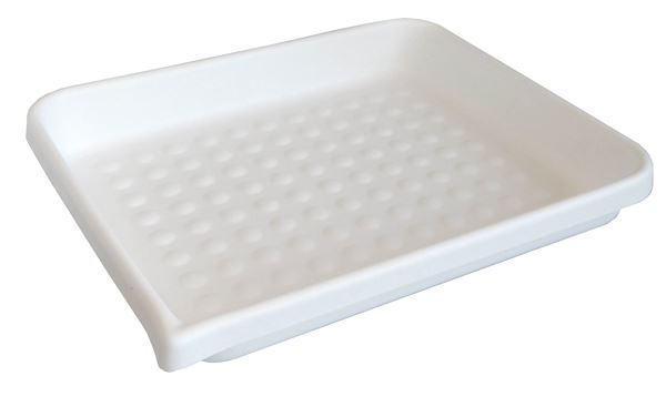 Dimpled cleaning tray