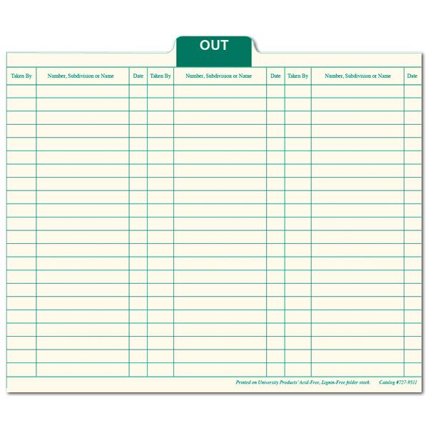 File-Out Cards