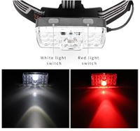 LED head torch white and red