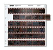 Holds six 35mm strips of 6 frames, 36 frames total