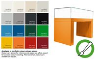 Available RAL colours for display case