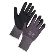 Breathable nitrile work gloves