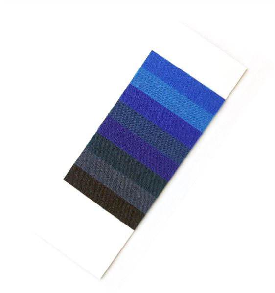 Blue wool textile fading cards