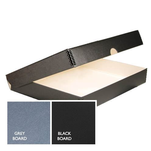 Folio box black and grey