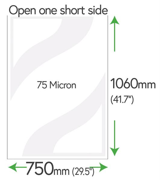 1060mm x 750mm Clear Pockets 100 Micron (Movie Poster Size)