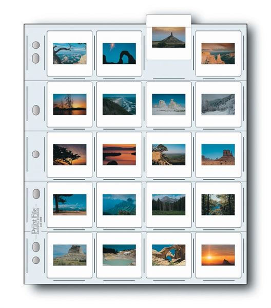 Holds twenty 35mm mounted transparencies