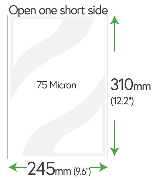 310mm x 245mm Clear Pockets 75 Micron