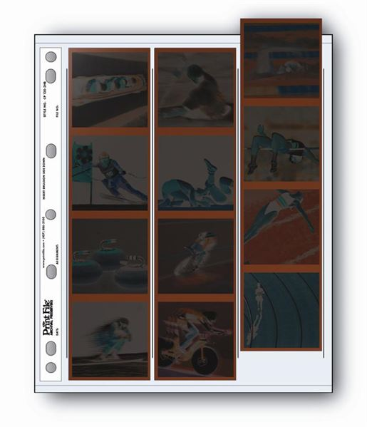 Holds fifteen frames of 6x4.5 cm, twelve frames of 6x6 cm or nine frames of 6x7 cm of 120 film
