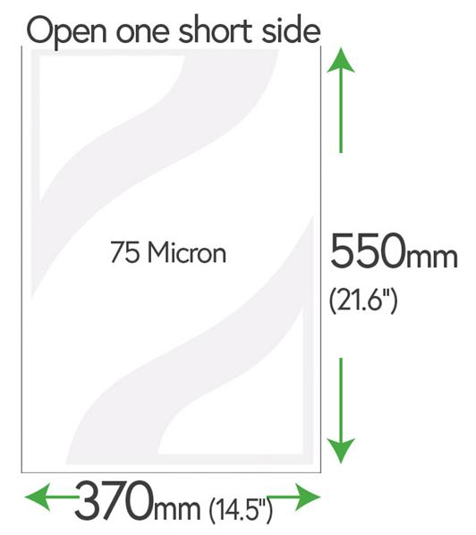 550mm x 370mm Clear Pockets (Newspaper) 75 Micron