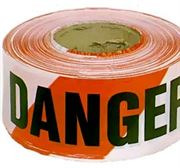 Danger tape and hazardous storage