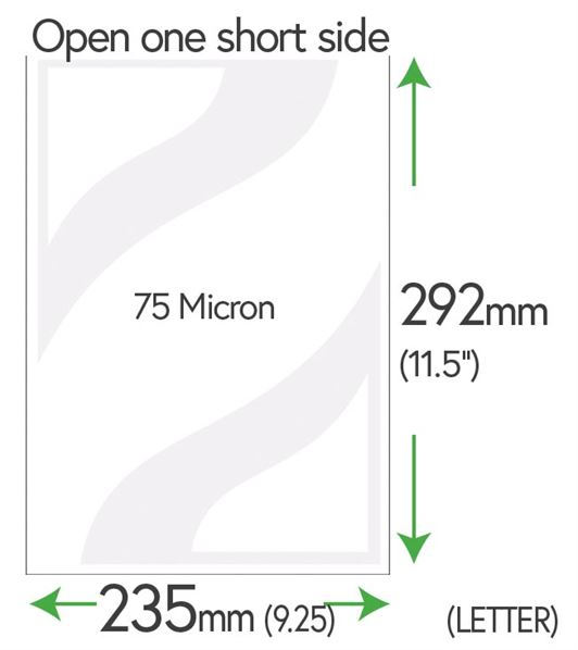 292mm x 235mm Clear Pockets 75 Micron