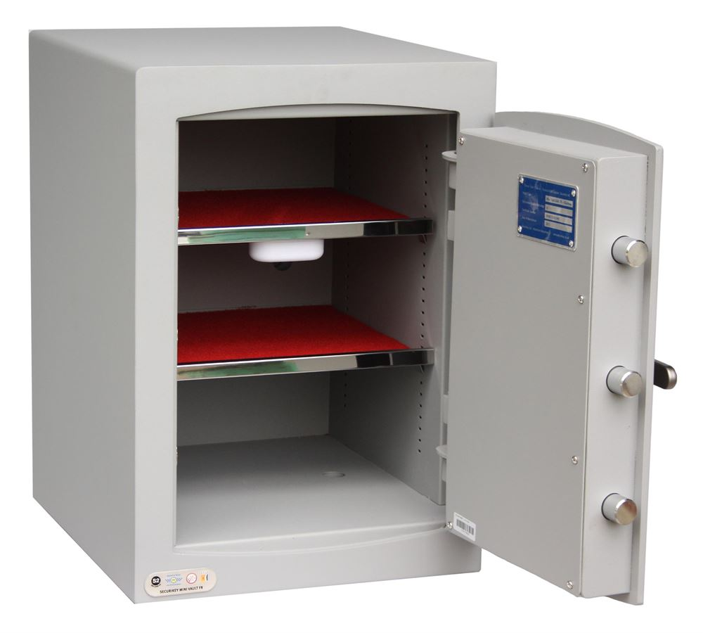 Fire safe for the secure storage of important documents ...