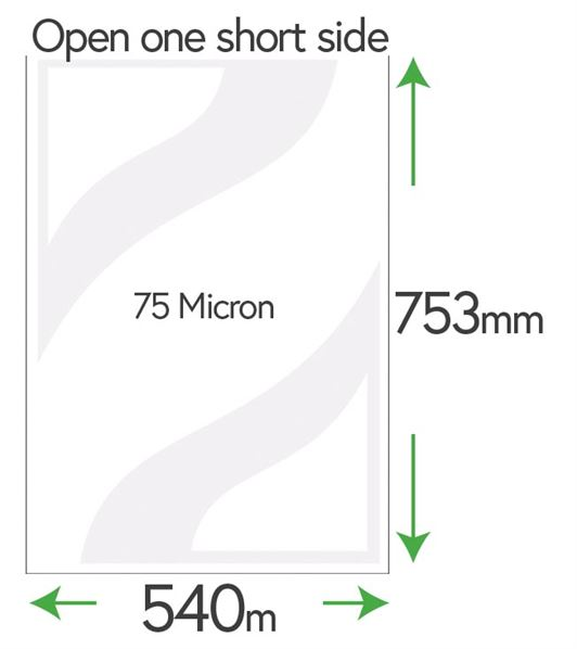 753 x 540mm Clear Pockets 75 Micron Size (B2 Japanese Movie Poster Size)