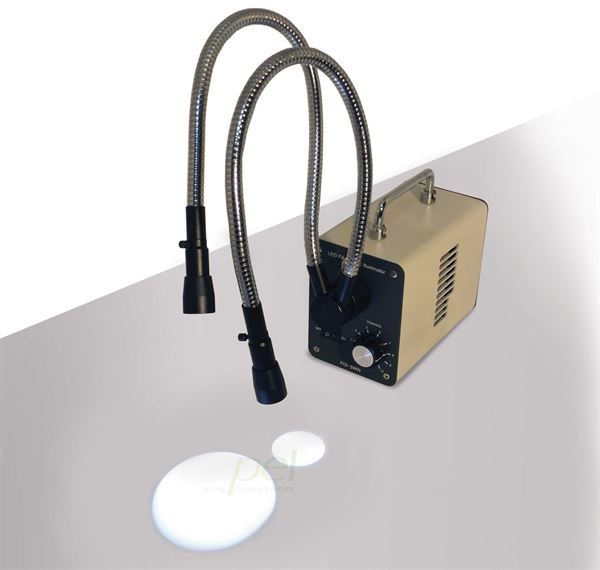 Fibre optic illuminator for microscope or detailed work