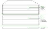 Horizontal plan file cabinet required components