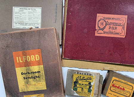 old photo boxes