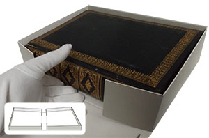 drop spine clamshell box