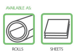 Preservation equipment rolls and sheets